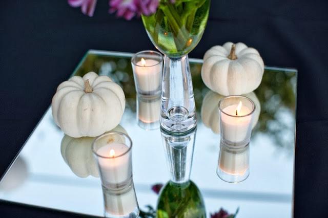 dinner party white pumpkins